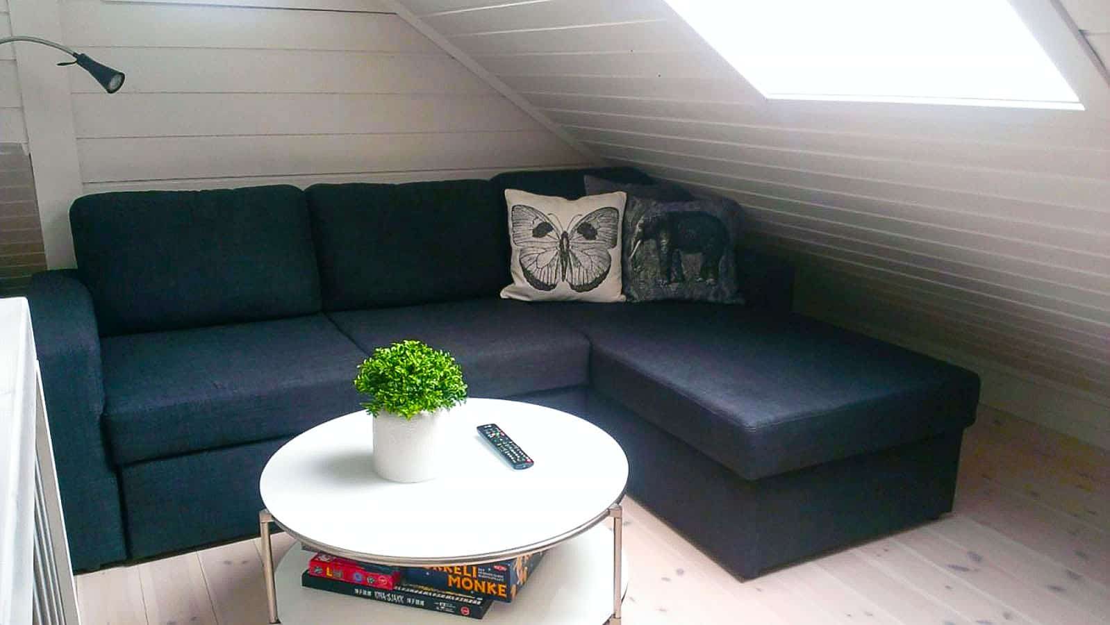 2nd floor tv area & sofabed